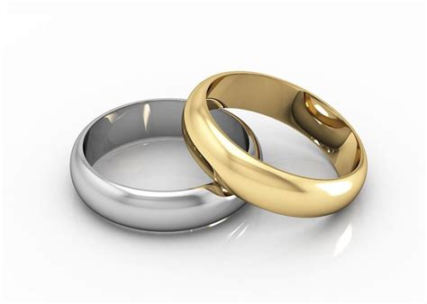 gold wedding rings engagement rings gold and silver