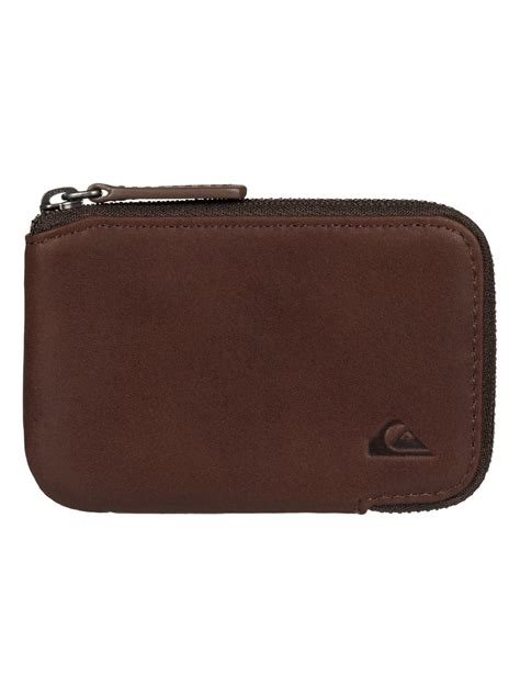 Half Zip Wallet half zip leather wallet eqyaa03332 quiksilver