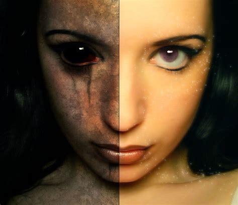 tutorial photoshop horror good evil tutorial halloween card pinterest good