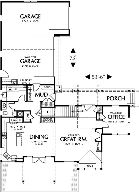 hennessey house 7805 4 bedrooms and 4 baths the house designers awesome house diagram floor plan contemporary best