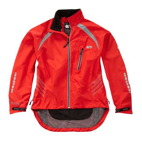red waterproof cycling jacket madison stellar ll mens waterproof bike cycling rain