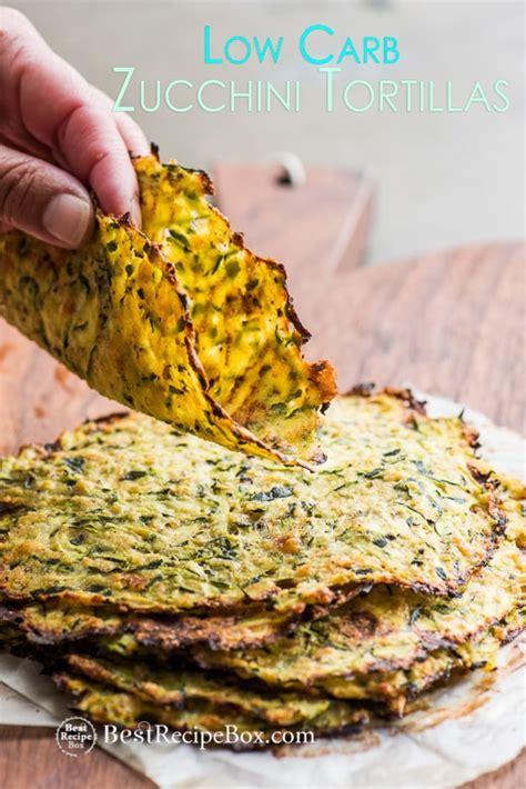 healthy zucchini tortillas recipe    carb