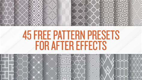 pattern maker after effects after effects 45 free pattern presets