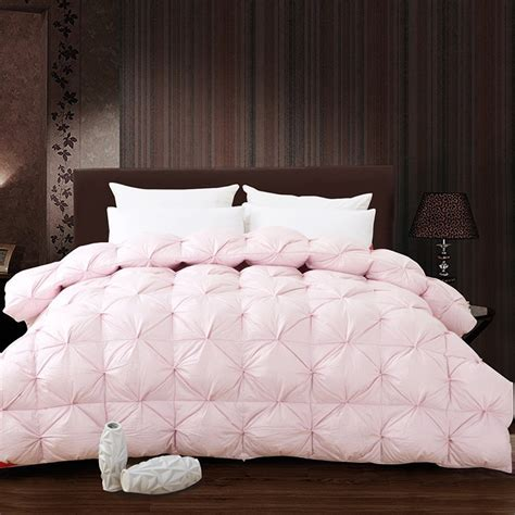 pink king comforter white pink grade a natural 95 goose down comforter twin