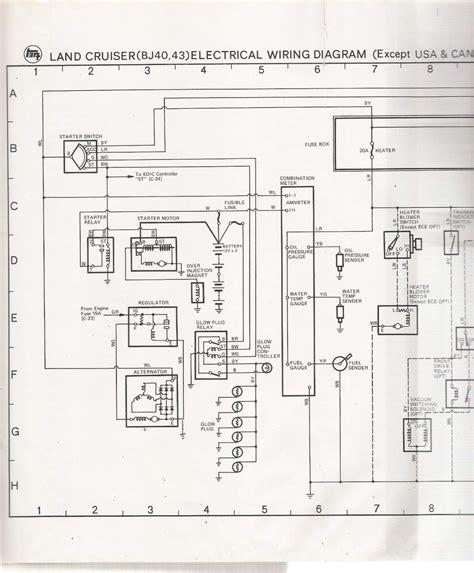 toyota bj40 wiring diagram www jzgreentown