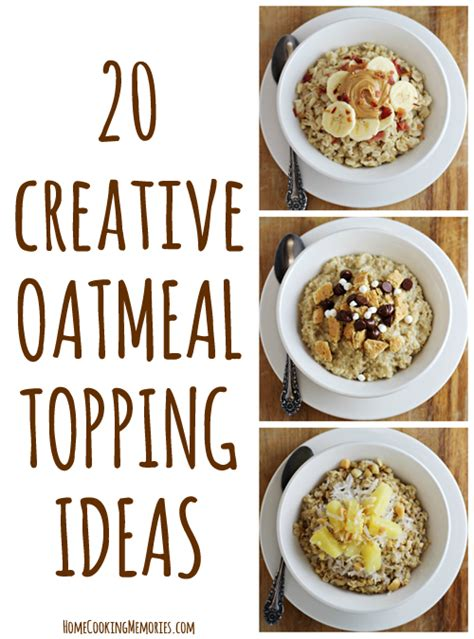printable breakfast recipes 20 creative oatmeal topping ideas with free printable