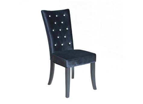 Black Velvet Dining Room Chairs by Radiance Black Velvet Dining Chair