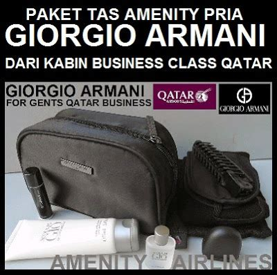 Harga Kaos Giorgio Armani amenity airlines on line shop amenity kits