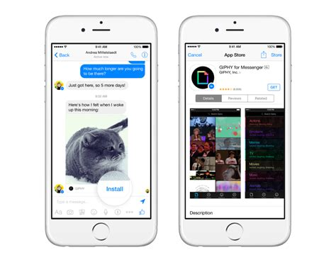 fb messenger more gifs please facebook intros entire app store just
