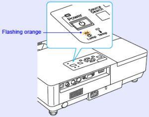 epson projector l light flashing orange epson emp 1700 projector l