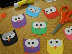 hoot hoot owl paper craft owl name tags owl paper and