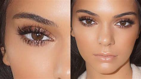 makeup jenner kendall jenner glowing makeup tutorial 2015
