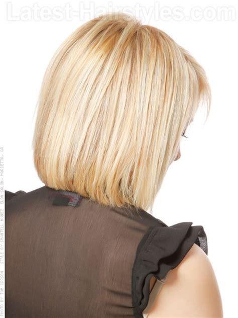 medium style bob with bangs back views stacked bob hairstyles back view pastel princess bob