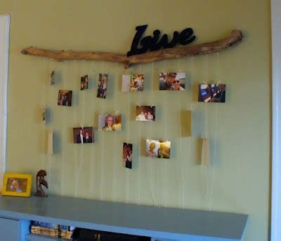 creative ways to hang pictures without frames 23 best images about log stick picture frames on pinterest