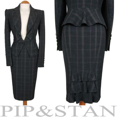 m s uk14 us10 pencil skirt suit 1950s 50s vintage style