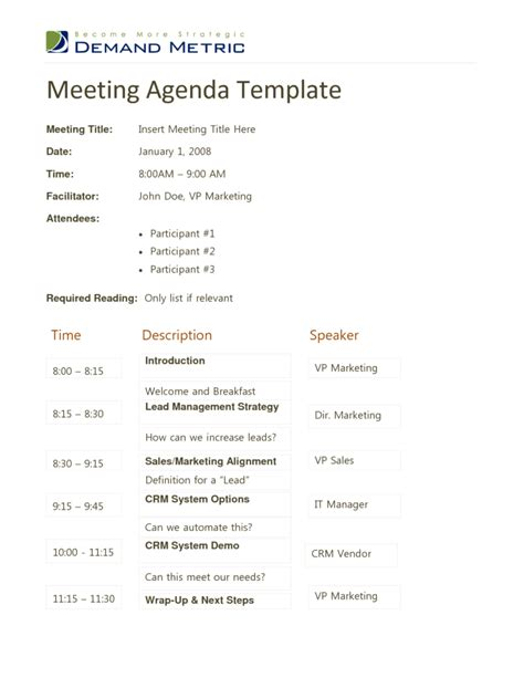 meeting itinerary template meeting agenda template doc 1 best agenda templates