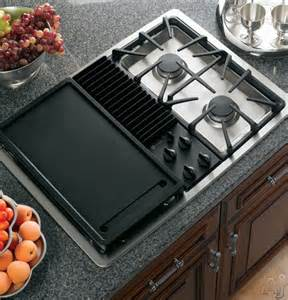 30 Ge Profile Gas Cooktop Ge Jgp990 30 Inch Downdraft Gas Modular Cooktop With Three