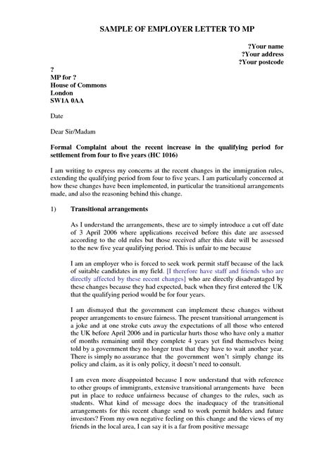 Explanation Letter For Gap Of Employment Best Photos Of Formal Complaint Letter Against Supervisor Formal Complaint Letter Sle