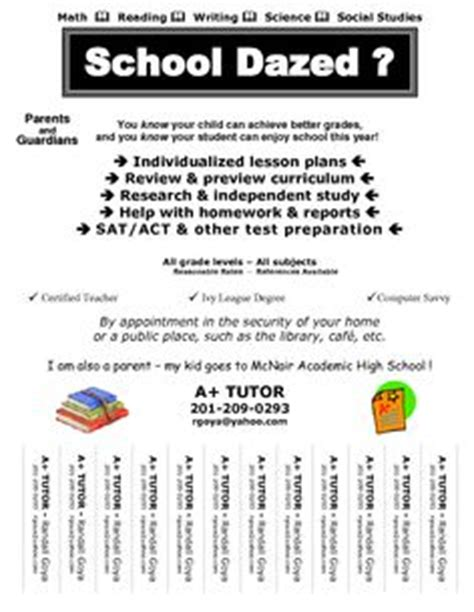 15 Cool Tutoring Flyers 9 Tutoring Pinterest Flyer Template Flyers And Search Math Tutoring Flyer Template