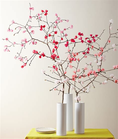 How To Make Cherry Blossoms Out Of Paper - make it yourself a bouquet of paper cherry