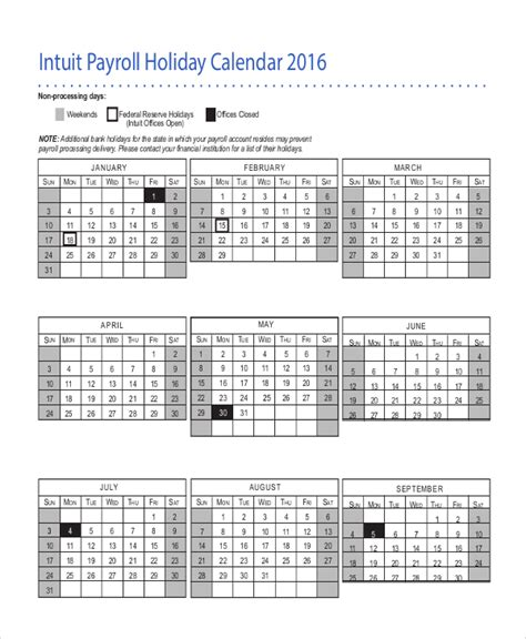 Intuit Templates payroll calendar template 10 free excel pdf document