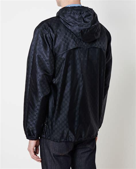 Jaket Fashion Gucci 5 lyst gucci monogrammed windbreaker in blue for