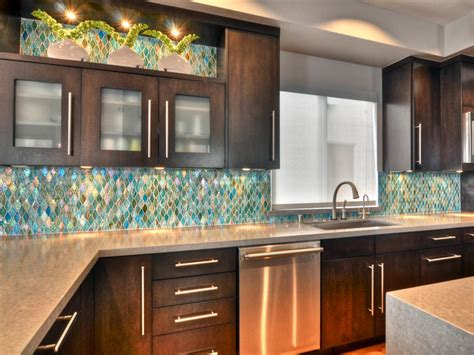 glass tile for kitchen backsplash ideas glass backsplash ideas pictures tips from hgtv hgtv