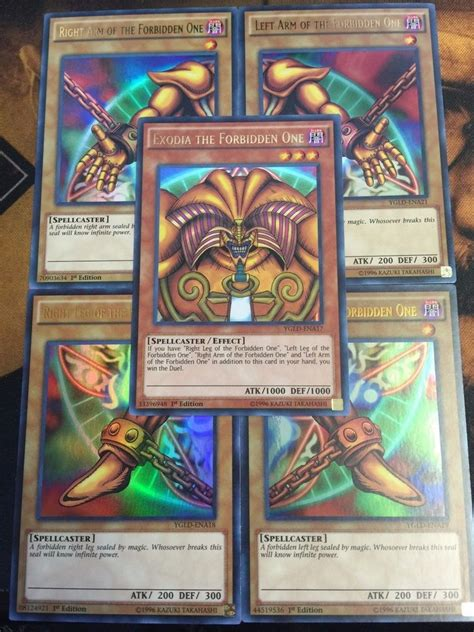 how to make yugioh cards at home yugioh exodia the forbidden one 5 card set ygld ultra