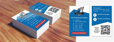 Xxl Visitenkarten by Visitenkarte Xxl Partyservice Bistro Von 4musketier