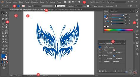 barra superior illustrator curso gratis de curso illustrator cc aulaclic 2 el