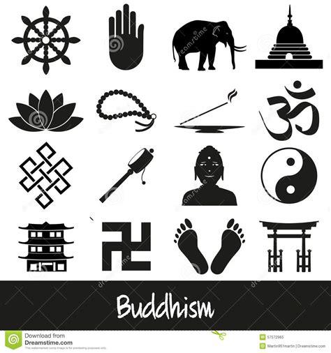 imagenes y simbolos del budismo sistema del vector de los s 237 mbolos de las religiones del