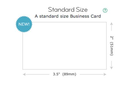 Standard Business Card Dimensions