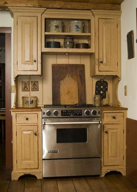 25 best ideas about primitive kitchen cabinets on