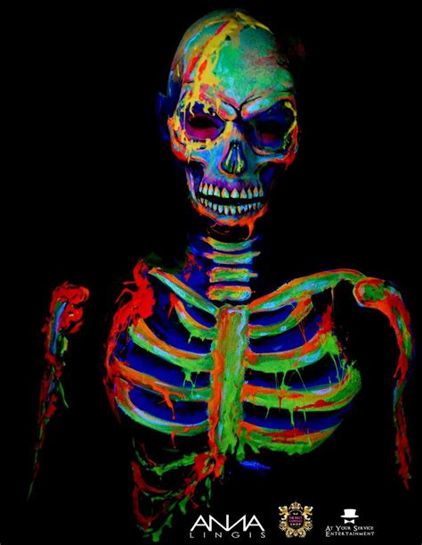Neon skull using global colours and cameleon gelantine