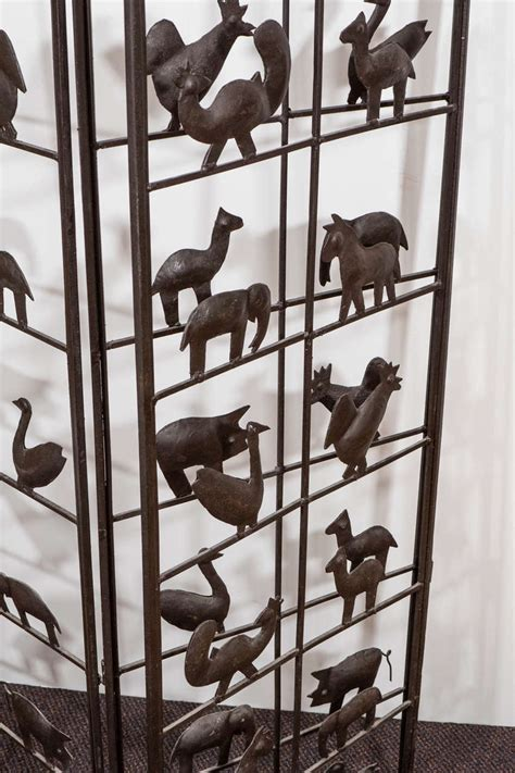 wrought iron room divider wrought iron room divider with animal motifs at 1stdibs