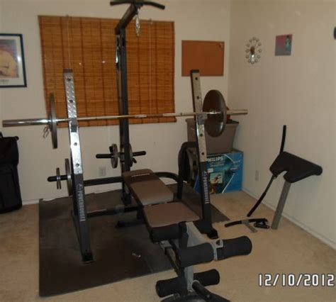powerhouse olympic weight bench powerhouse bench press rack espotted