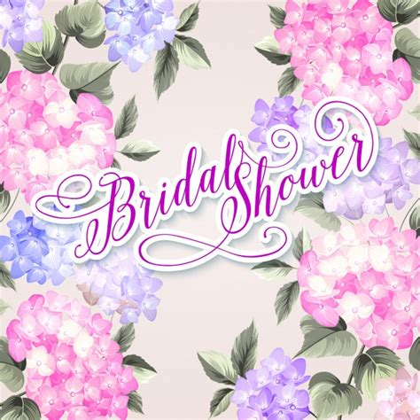 bridal shower background bridal shower background vector premium