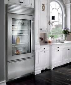 stylish glass door refrigerator for a kitchen in neutral