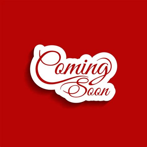 camin soon coming soon text background vector free