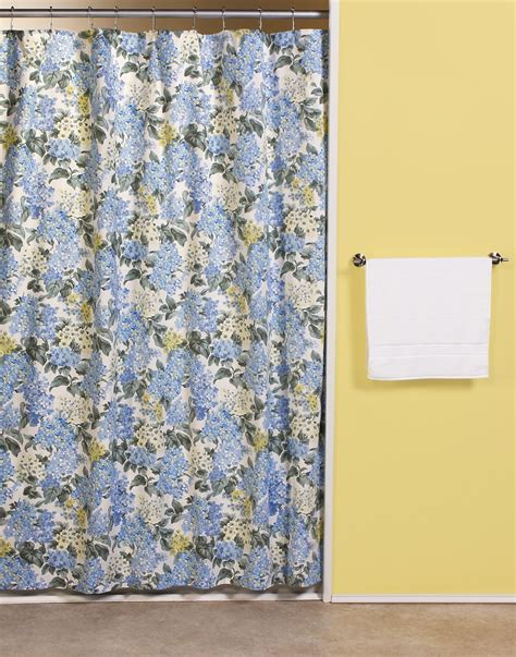 Hydrangea fabric shower curtain curtain amp bath outlet