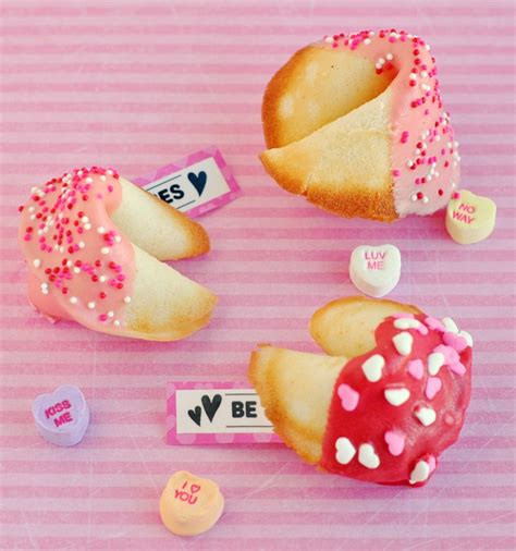 s day fortune cookies dipped and decorated fortune cookies for valentine s day
