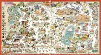knott s berry farm 1991 park map