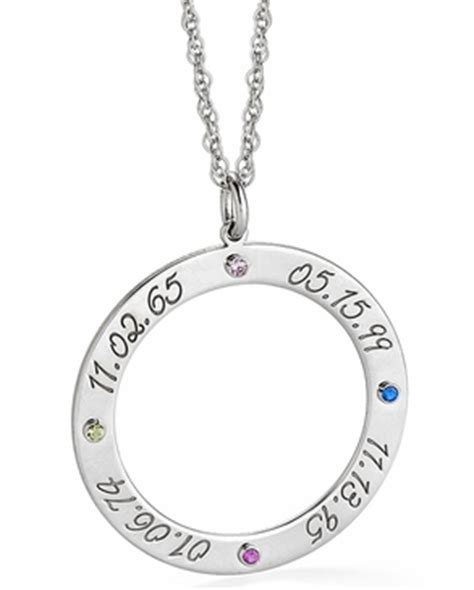 quot family circle of quot birthstone pendant necklace