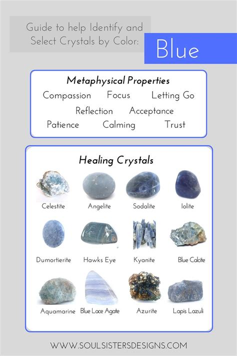 identify  select healing crystals  color