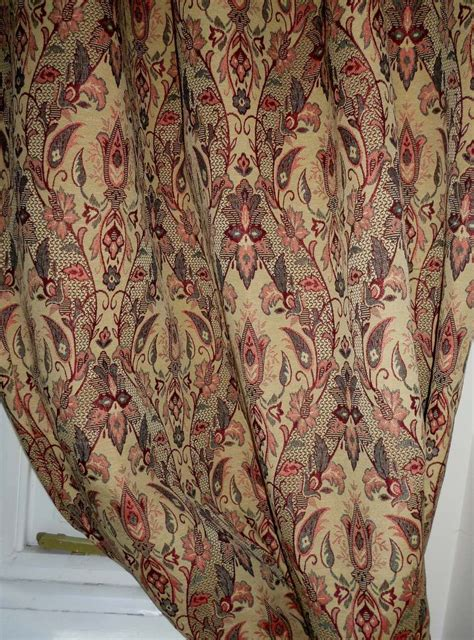 tapestry drapes made to measure italian gold tapestry curtains interlined