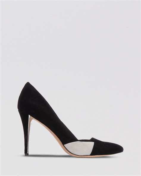 two tone high heels vince camuto pointed toe pumps hez two tone high heel in