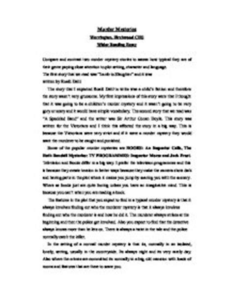 Murder Essay by Mystery Story Essay Reportd953 Web Fc2