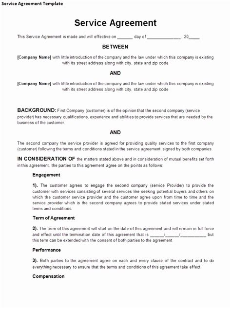 service provider agreement template free gallery of service provider agreement template service