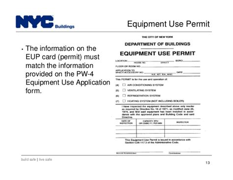 Nyc Dob Designated Foreman Card Template by New York City Department Of Buildings Filing Rep Course 103