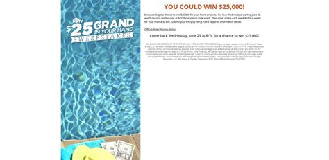 Hgtv 25 Grand In Your Hand Sweepstakes - hgtv sweepstakes 2014 entry form html autos weblog